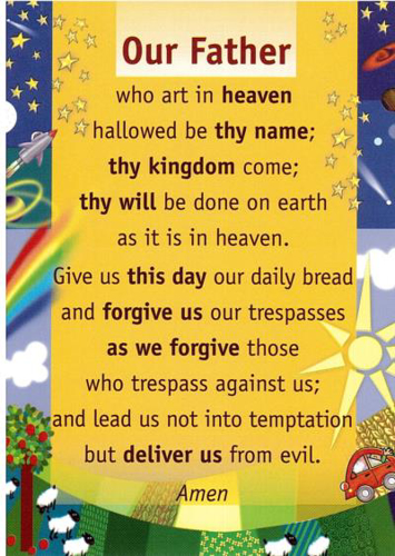 Picture of Prayer Card - Our Father