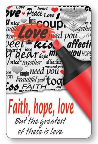 Picture of Prayer Card - Faith Hope Love