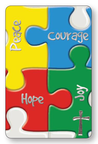 Picture of Prayer Card - Peace Courage Hope Joy