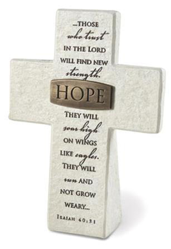 Picture of Resin Cross: Hope