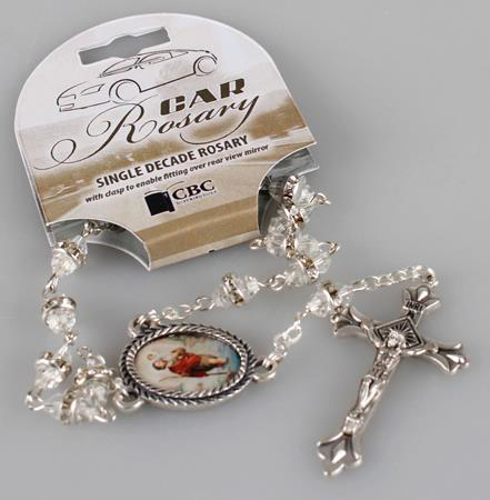 Picture of Car Rosary Single Decade - Crystal