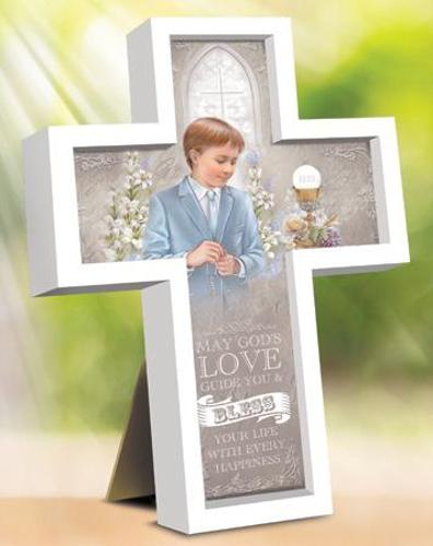 Picture of 1st Communion Wood Cross - Boy