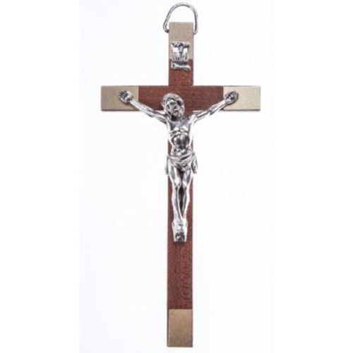 Picture of Crucifix - Wood Metal Corpus 14cms