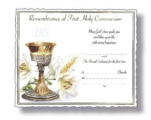 Picture of 1st Communion Certificate