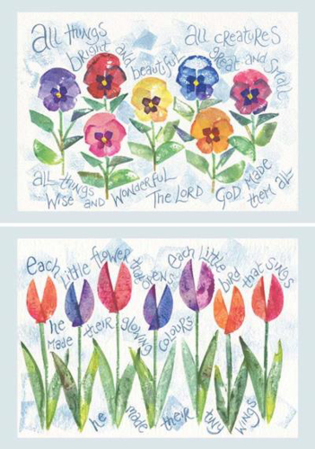 Picture of Notecard/All things Bright and Each Little Flower
