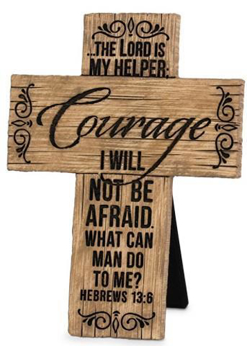 """Picture of Cross - Standing 4.24"""" x 5.75"""" Courage"""
