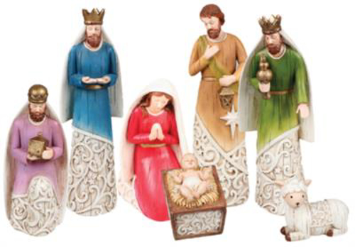 Picture of 7 Resin Nativity Figures - 8 inch
