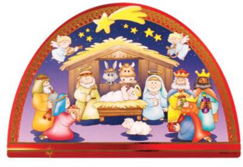 Picture of Children's Wood Nativity Plaque