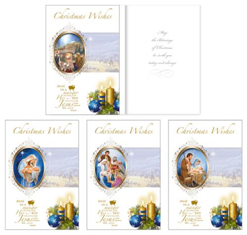 Picture of Christmas Wishes - 16 Cards (4 Designs)