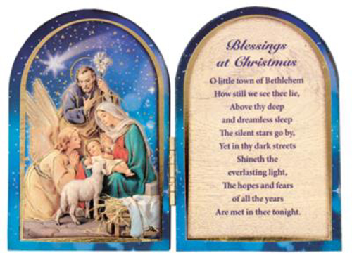 Picture of Wood Folding Nativity Plaque 3.5 x 4.75