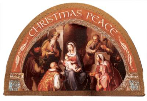 Picture of Wood Nativity Plaque - 7 x 4.75 inches