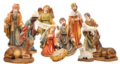 Picture of 11 Resin Nativity Figures - 6 inch