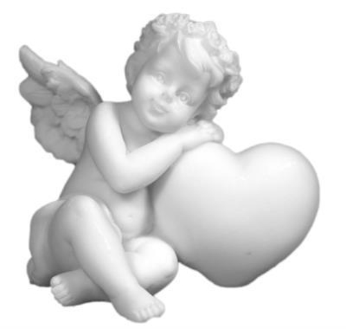 Picture of Angel with Heart 6cm