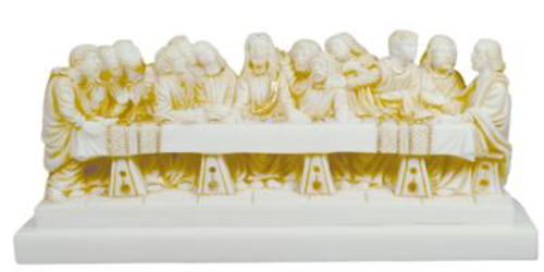 Picture of Last Supper - Alabaster with Gold 28cm