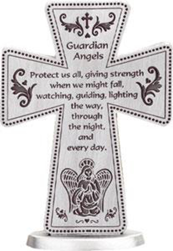 Picture of Pewter Cross - Guardian Angel