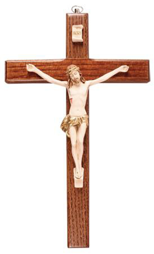 Picture of Ash Wood Crucifix with Resin Corpus