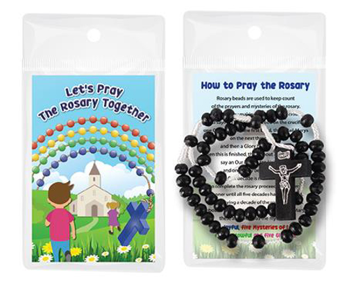 Picture of Wood Corded Rosary - Black