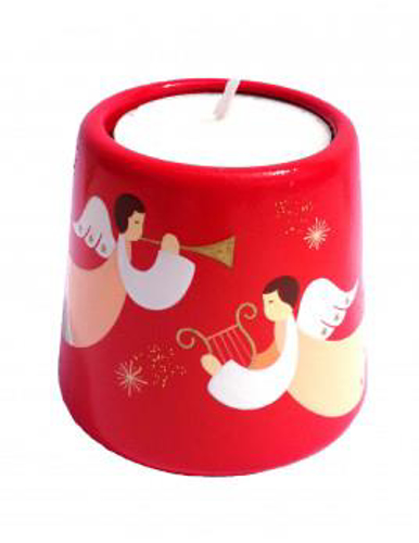Picture of Xmas Candle Angel Red