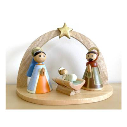 Picture of Wooden Nativity - Holy Family and Shed
