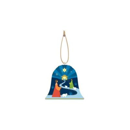 Picture of Xmas Ornament Bell Blue 7.5cms