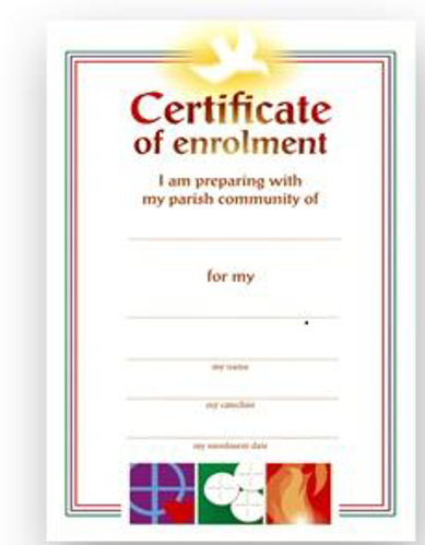 Picture of Enrolment Certificate