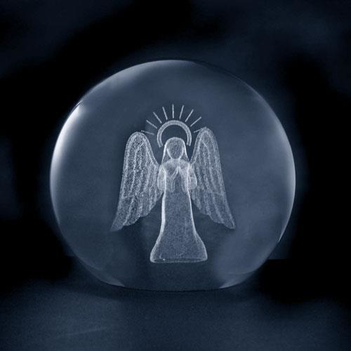 Picture of Glass Ball: Angel with Halo