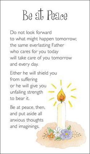 Picture of Prayer Card - Be at Peace