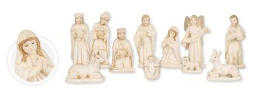 Picture of Resin Nativity - 11 Figures 3.5 inch