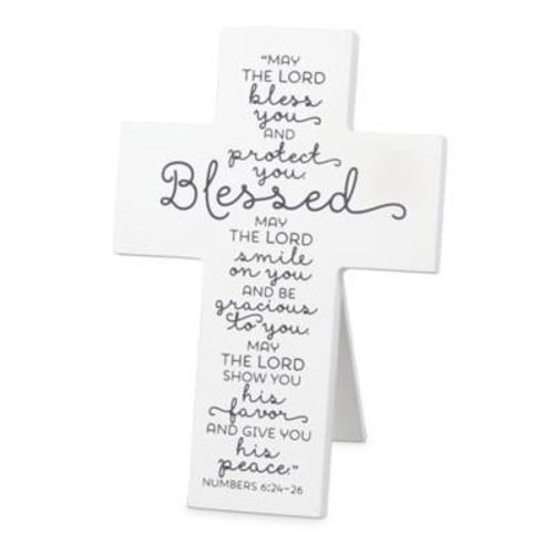 """Picture of Cross Standing - Blessed - 6.25"""" x 4.25"""""""