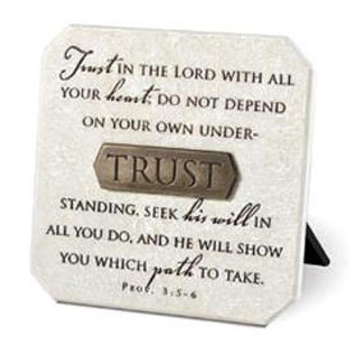 Picture of Stone Plaque: Trust