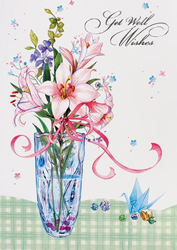 Picture of Card/Get Well Wishes (3 Dimensional)