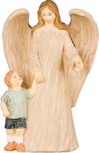 Picture of Resin Statue - Angel + Boy 5 inch