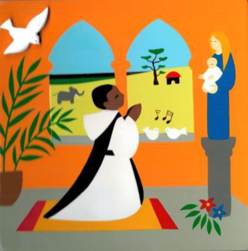Picture of Plaque - Praying Priest