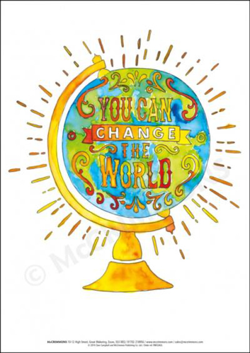 Picture of A3 Laminated Poster - You can Change the World