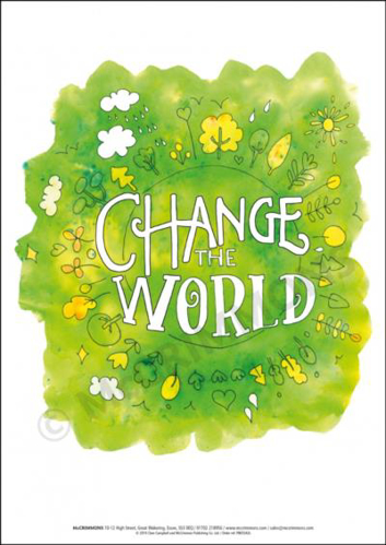 Picture of A3 Laminated Poster - Change the World