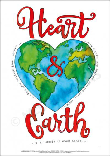 Picture of A3 Laminated Poster - Heart & Earth
