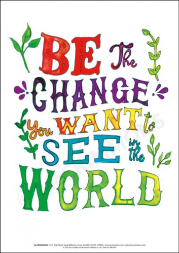 Picture of A3 Laminated Poster - Be the Change