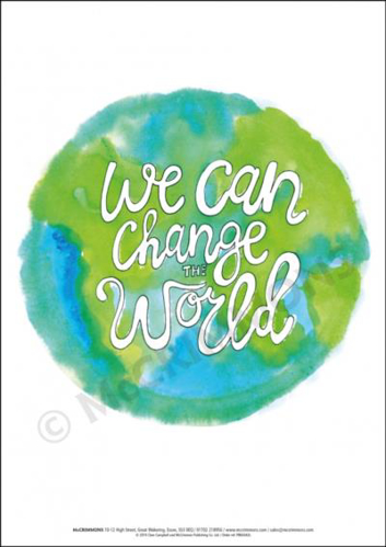 Picture of A3 Laminated Poster - We can Change the World