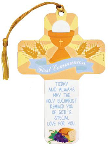Picture of 1st Communion Wood Cross (5 inch)