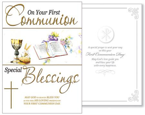 Picture of 1st Communion Card (Symbolic)