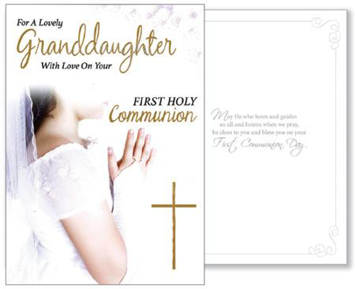 Picture of 1st Communion Card (Granddaughter)