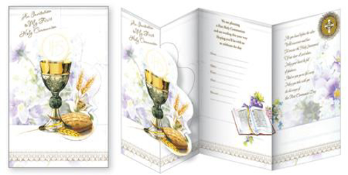 Picture of 1st Communion Invitations (Pack of 12)