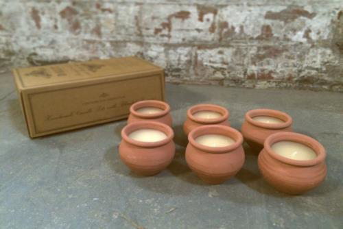 Picture of Box of 6 small candles - Lavendar Murgan