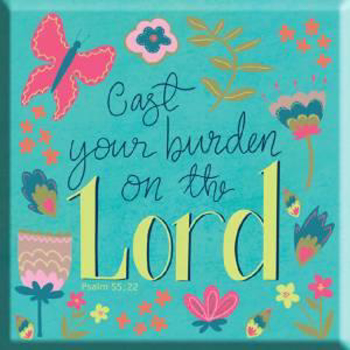 Picture of Magnet: Cast Your Burden On The Lord