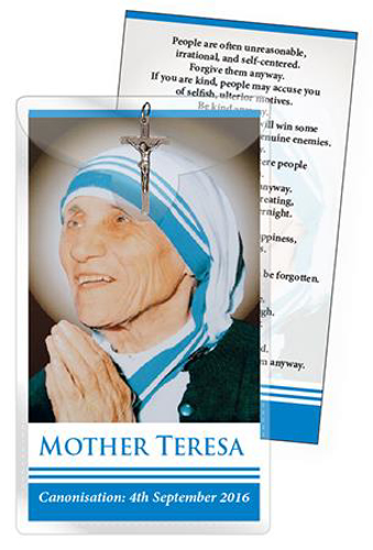 Picture of Medal and Leaflet -  Mother Teresa