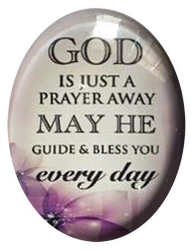 Picture of Glass Fridge Magnet/God is just a prayer
