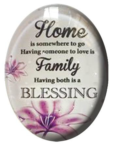 Picture of Glass Fridge Magnet/Home Family Blessing