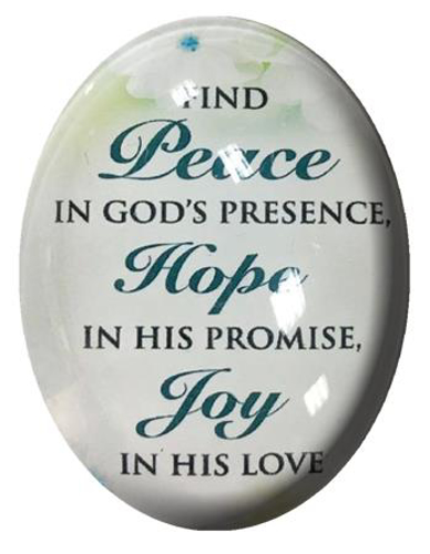 Picture of Glass Fridge Magnet/Find Peace