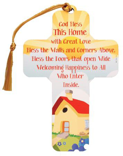 Picture of Wood Cross 5 inch/God bless this home