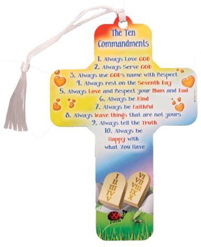 Picture of Wood Cross 5 inch/Ten Commandments